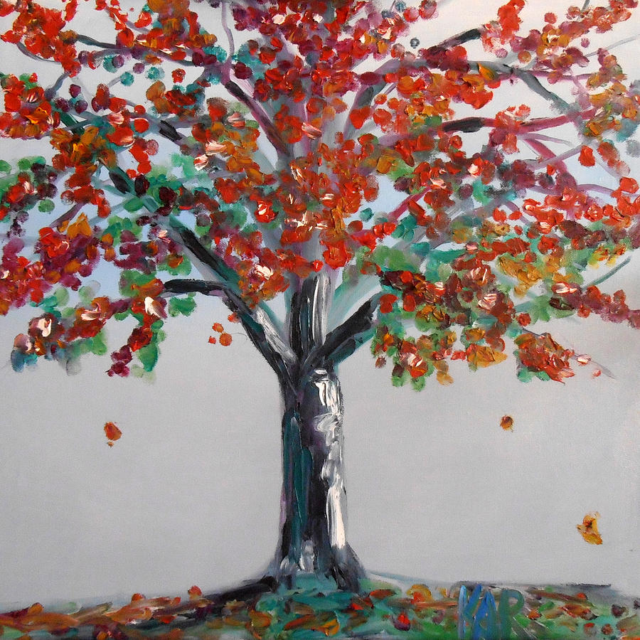 Fall Painting - Homage To Autumn by Art by Kar