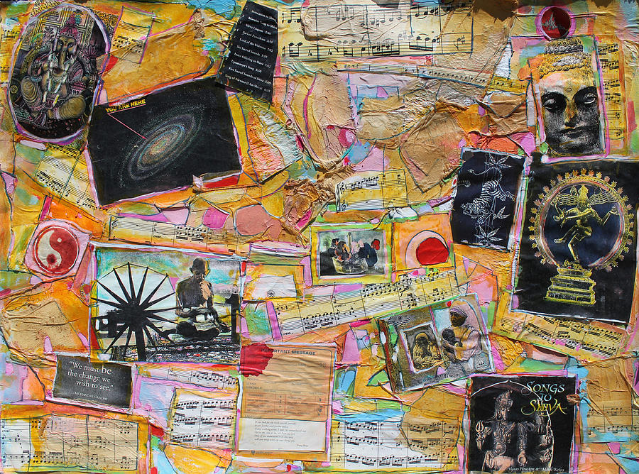 Collage Painting Painting - Homage To India by Hari Thomas