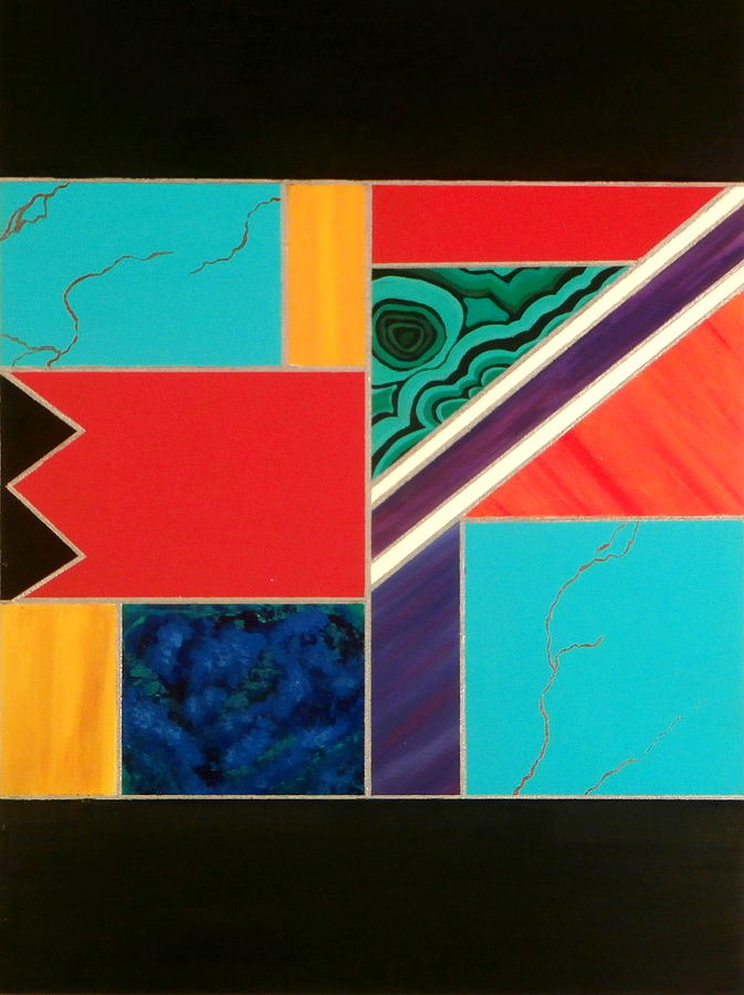 Abstract Painting - Homage To Inlay #1 by Karyn Robinson