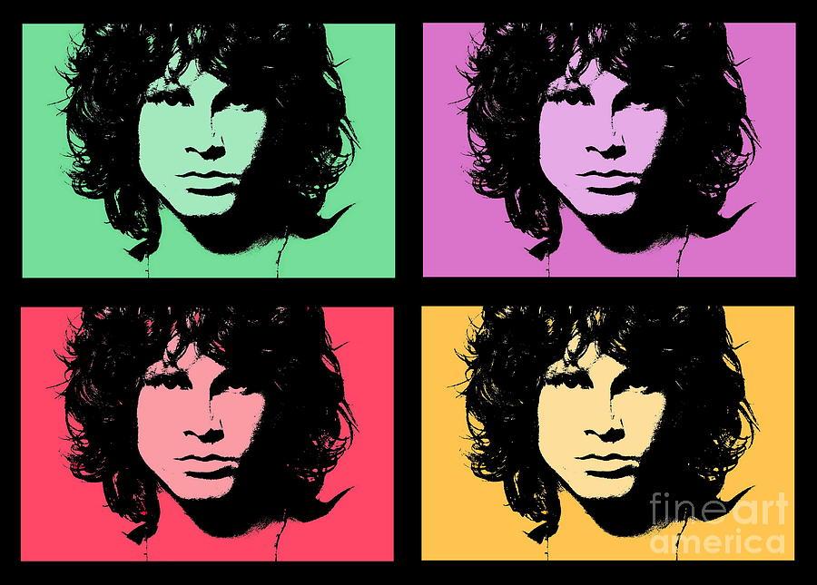 Jim Morrison Photograph - Homage to Jim Morrison by Andrea Kollo