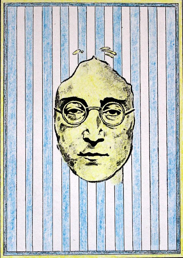 John Lennon Mixed Media - Homage To John Lennon  by John  Nolan