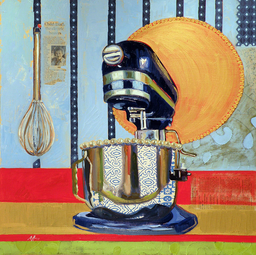 Julia Child Painting - Homage to Julia by Jennie Traill Schaeffer