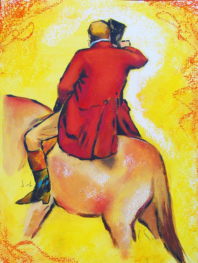 Homage To Master Degas The Horseman Painting by Susi Franco