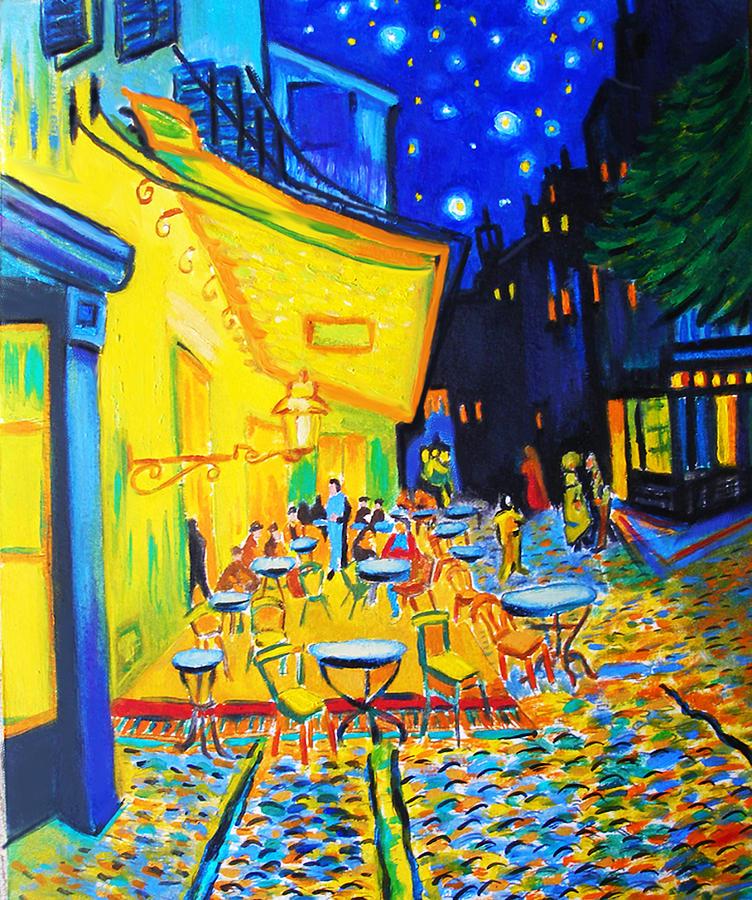 Van Gogh Painting - Homage To Master Van Goghs Terrace At Arles by Susi Franco