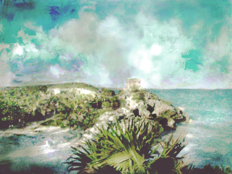Cozumel Photograph - Homage To Vincent Had He Only Seen Cozumel by Judy Paleologos
