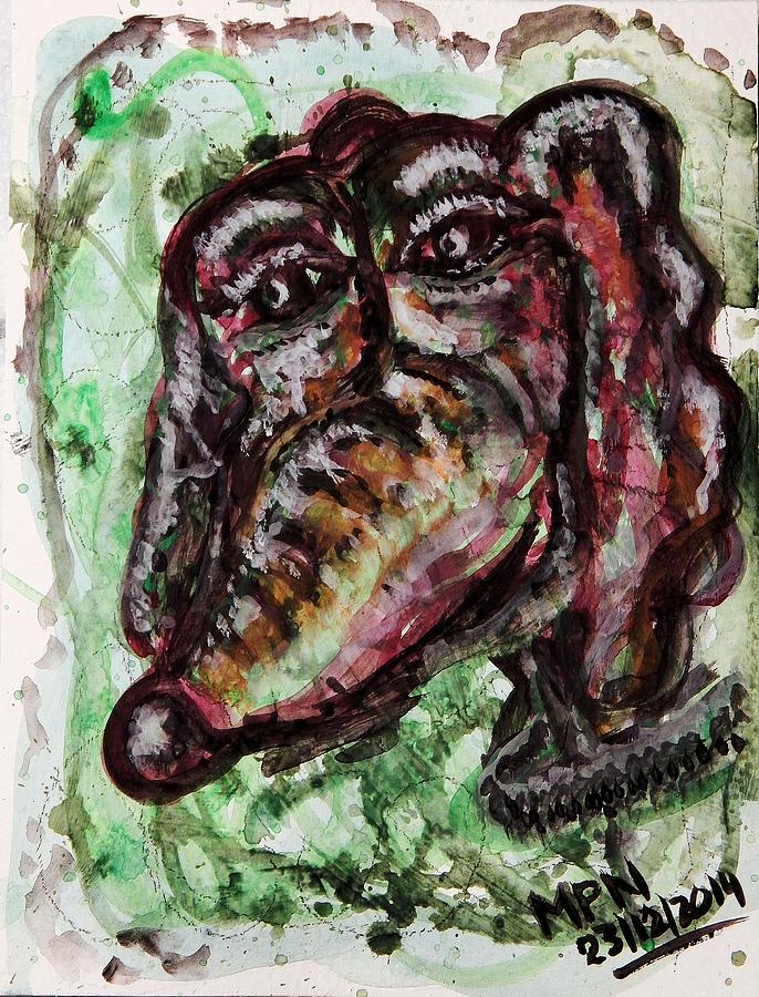 Dachshound Painting - Homage to XCalibur - A Fine Dachshound by Mimulux patricia No