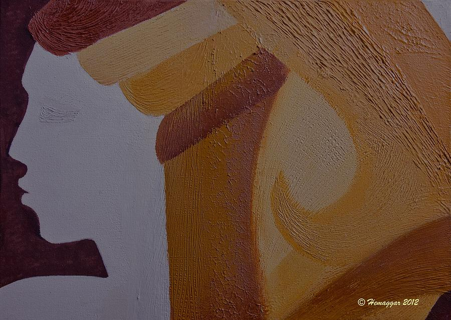 Organic Painting - Hombre De Los Dos by Hemu Aggarwal