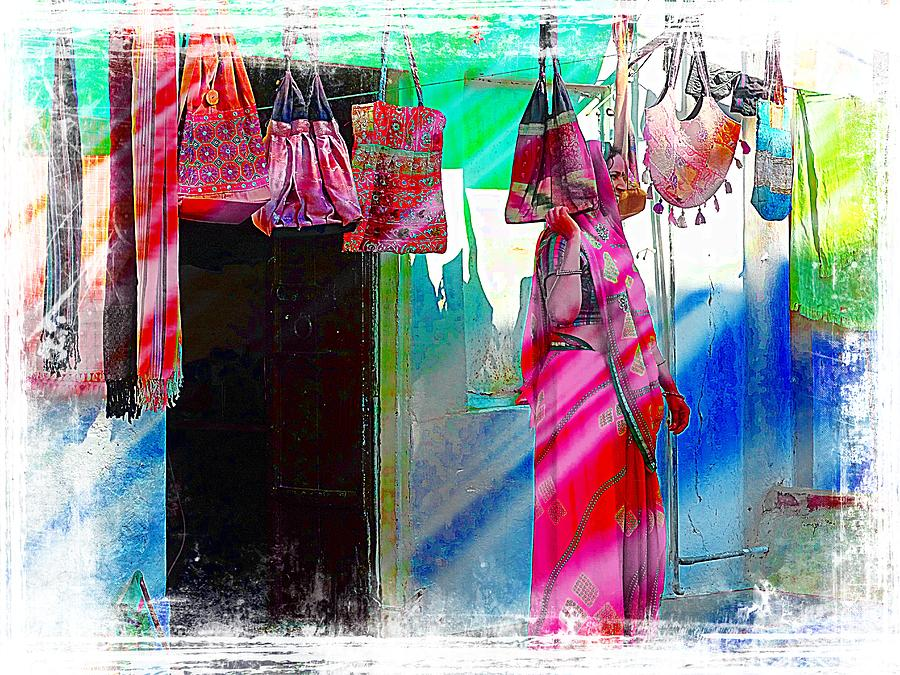 de5aa8af386f Bags For Sale Photograph - Home And Shop 2in1 India Rajasthan Udaipur by Sue  Jacobi