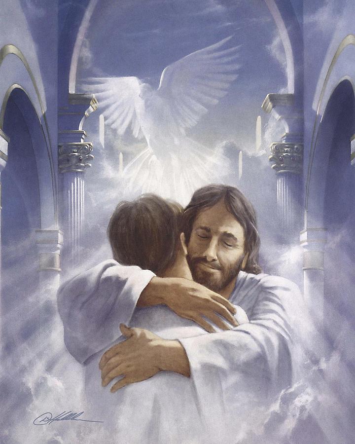картинки с иисусом христом и врата рая еще вентилятор вертит