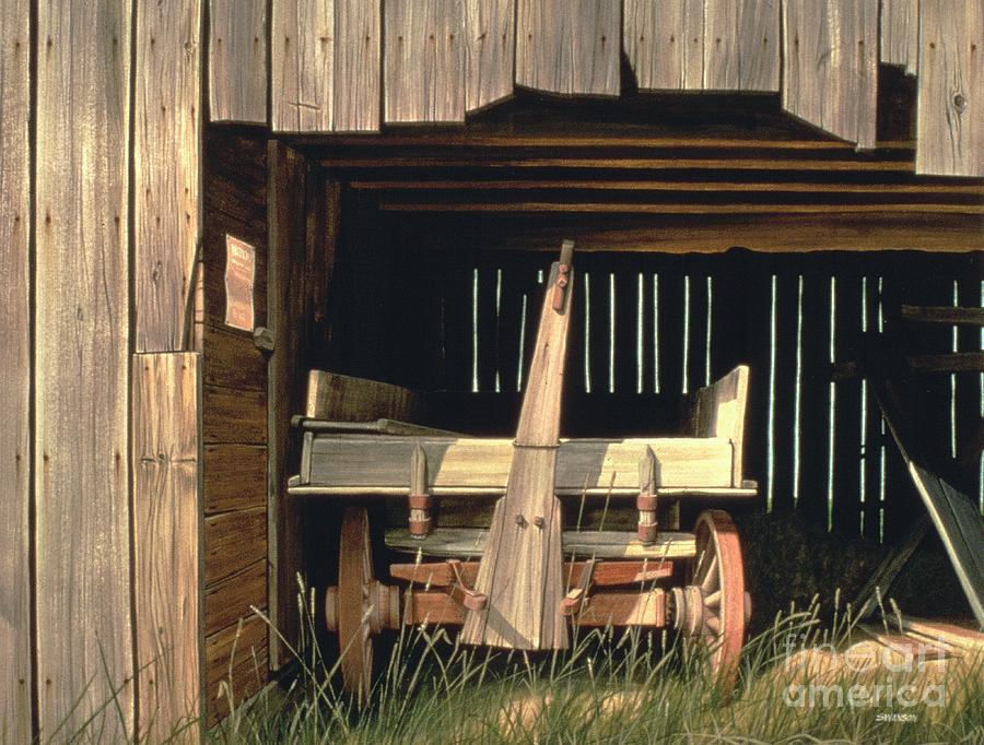 Old Barn Painting - Misners Wagon by Michael Swanson