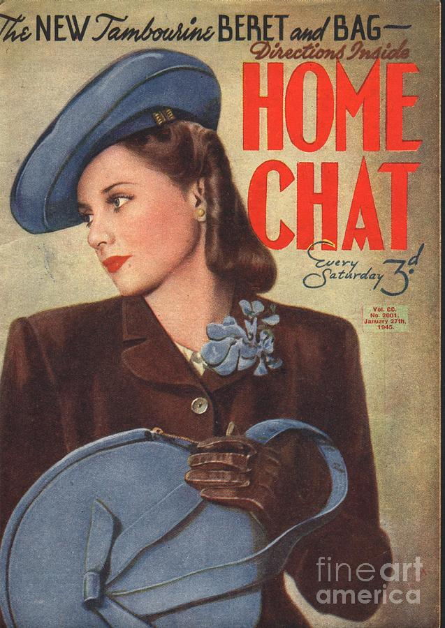 1940�s Drawing - Home Chat 1940s Uk Womens Portraits by The Advertising Archives