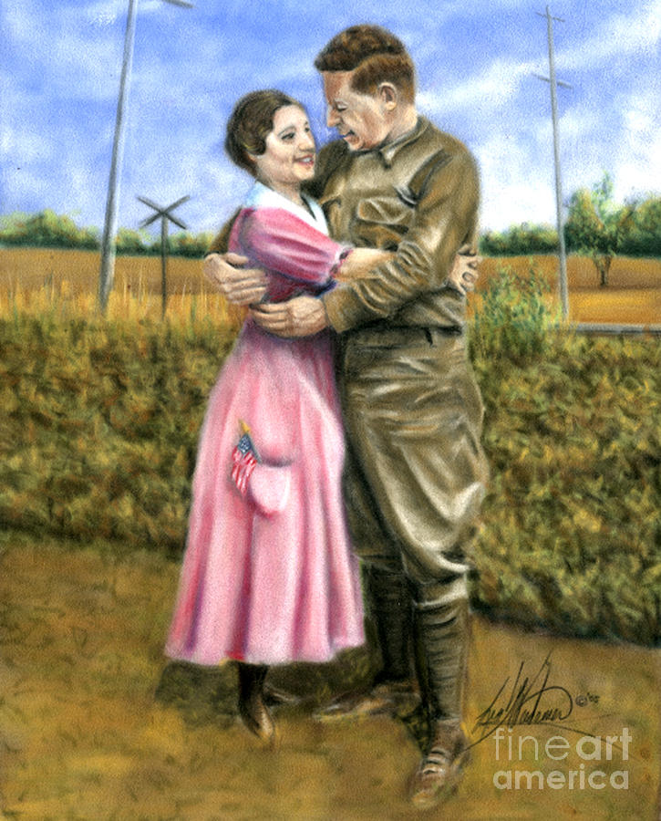 Soldier Pastel - Home Coming by Leah Wiedemer