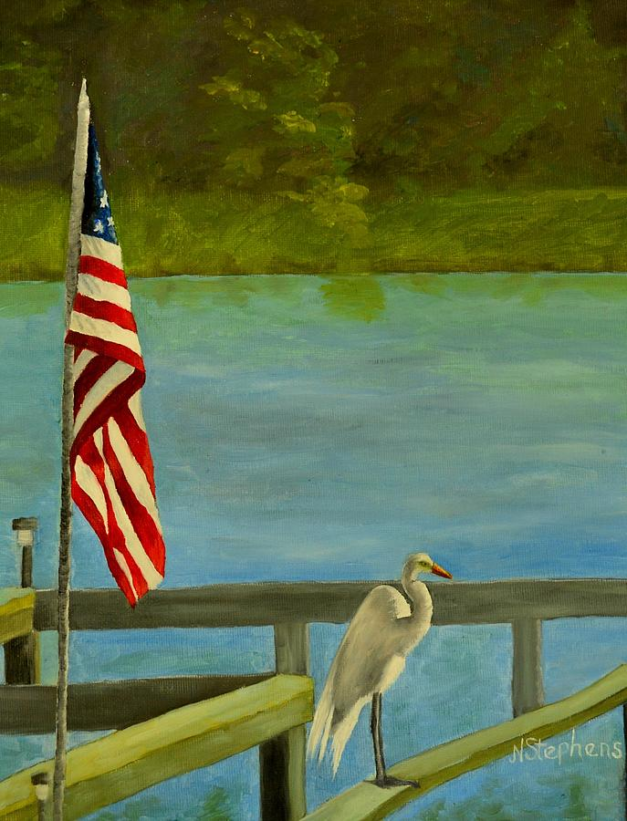 Independence Day Painting - Home For The 4th by Nina Stephens