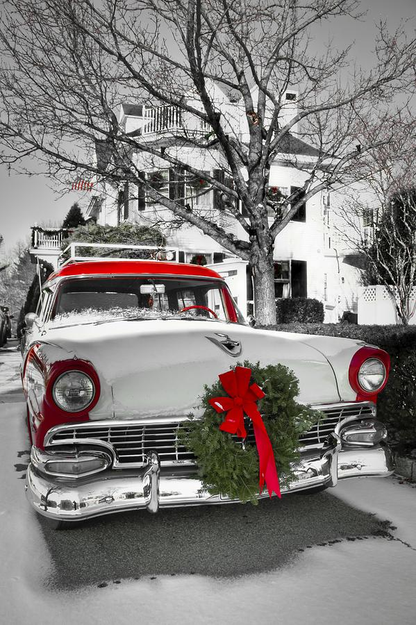 Cars Photograph - Home for the Holidays by Brenda Giasson