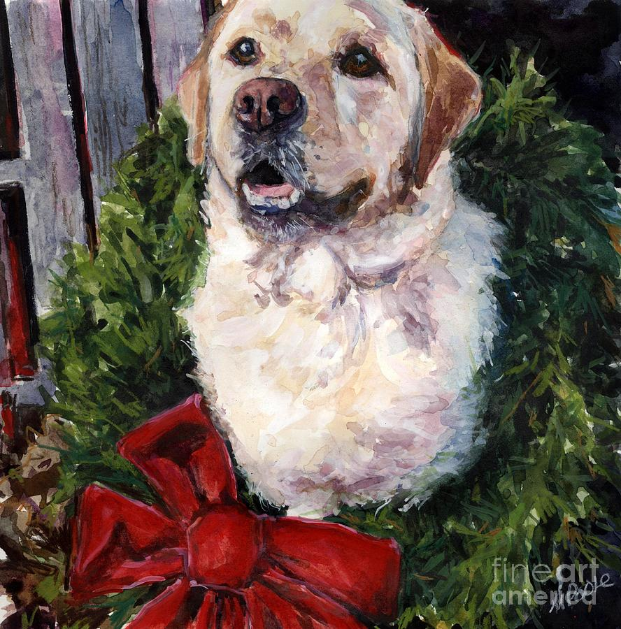 Labrador Retriever Painting - Home For The Holidays by Molly Poole