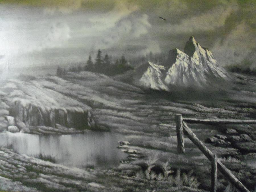 Mountains Painting - Home Front by Ricky Haug