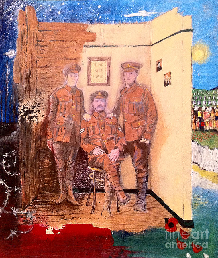 Ww1 Painting - Home Front Room by Michelle Deyna-Hayward