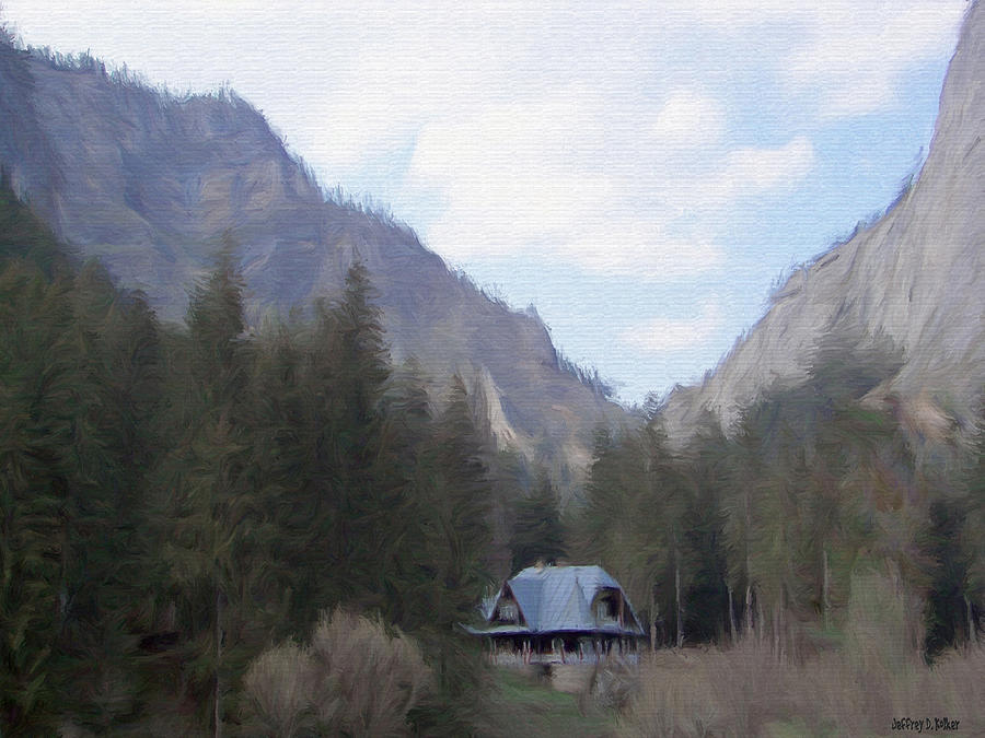 Alone Painting - Home In The Mountains by Jeff Kolker