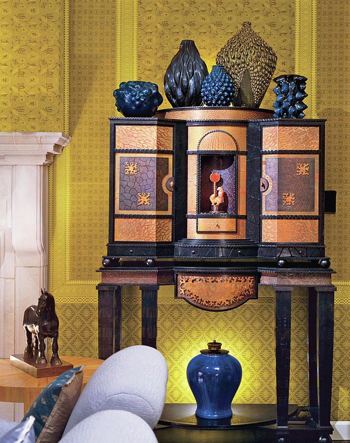 Home Interior With Antique Furniture Photograph by Durston Saylor