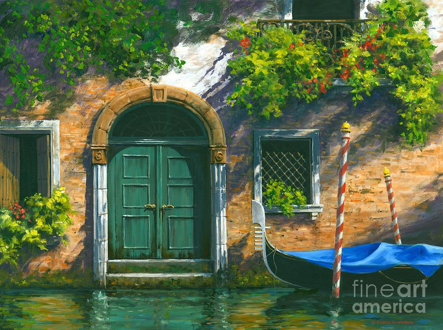 Venice Gondola Painting - Home Is Where The Heart Is by Michael Swanson