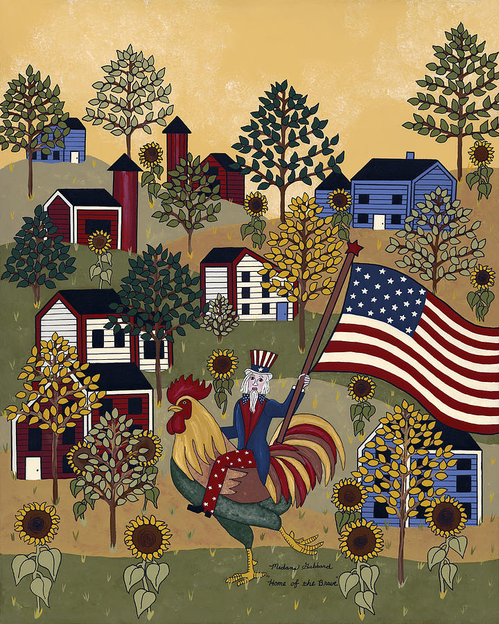 Uncle Sam Painting - Home Of The Brave by Medana Gabbard