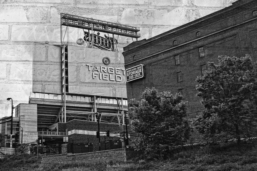 Black And White Photograph - Home Of The Minnesota Twins by Susan Stone