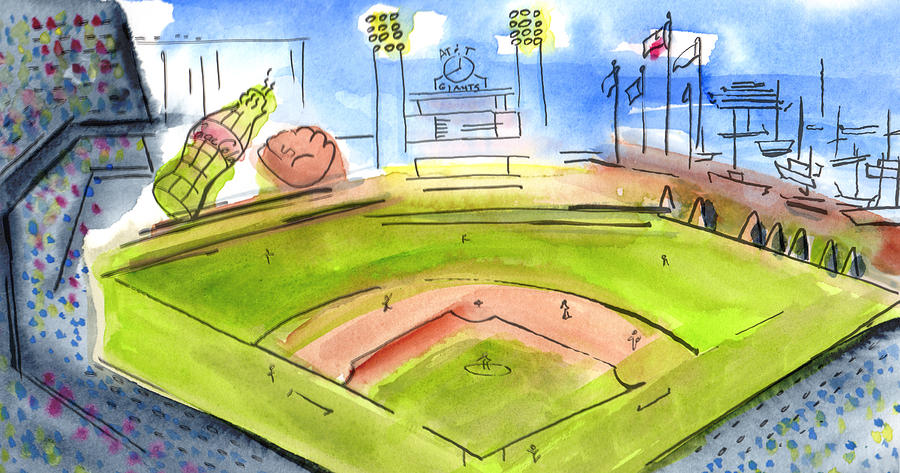 Baseball Painting - Home Of The San Francisco Giants by Jeanne Rehrig