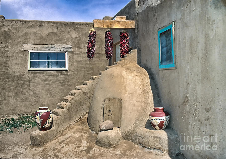 New Mexico Photograph - Home On Taos Pueblo by Sandra Bronstein
