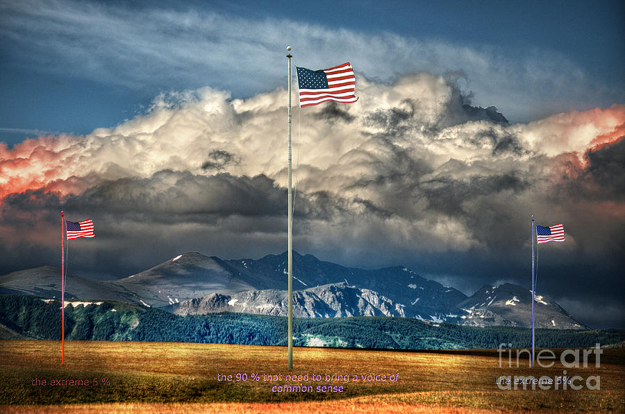 Flag Photograph - Home On The Range by The Stone Age