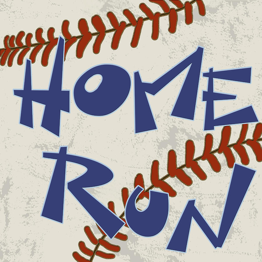 Sports Painting - Home Run by Anna Quach