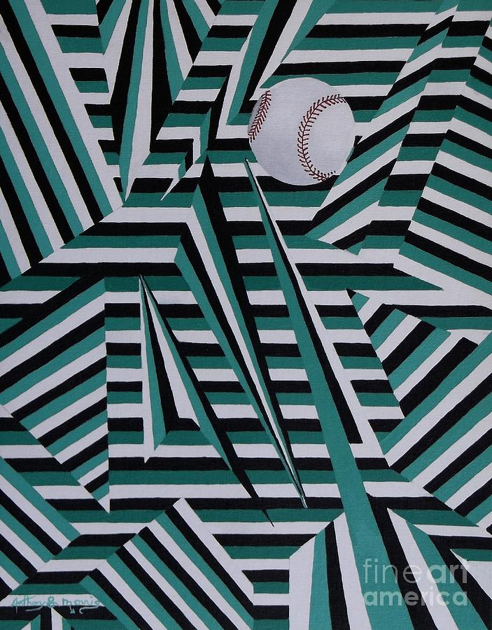 Home Run Painting - Home Run by Anthony Morris