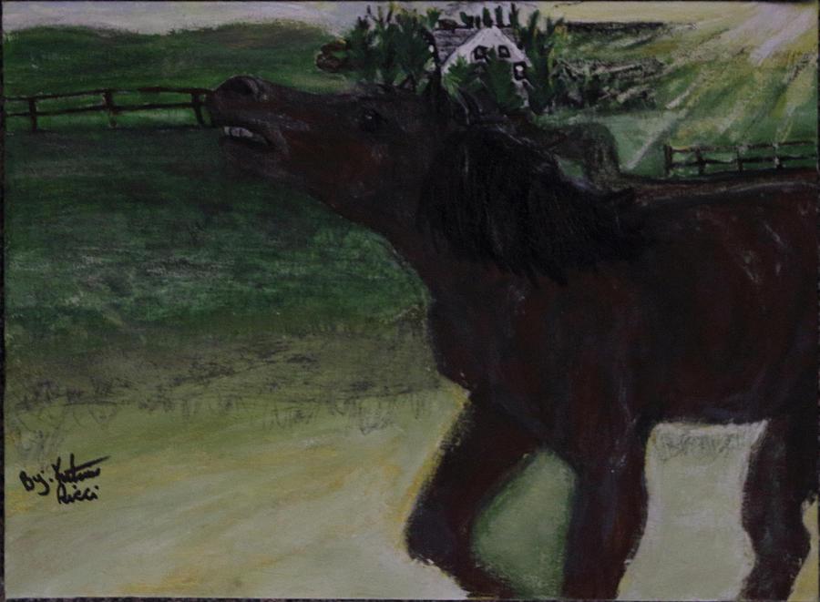 Horse Painting - Home Sweet Horse by Katrina Ricci