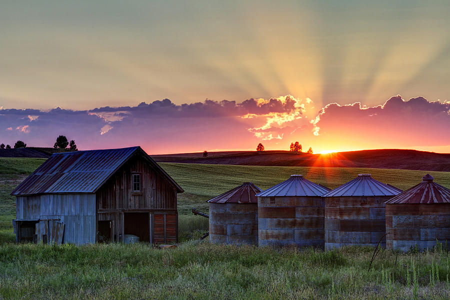 Cheney Photograph - Home Town Sunset by Mark Kiver