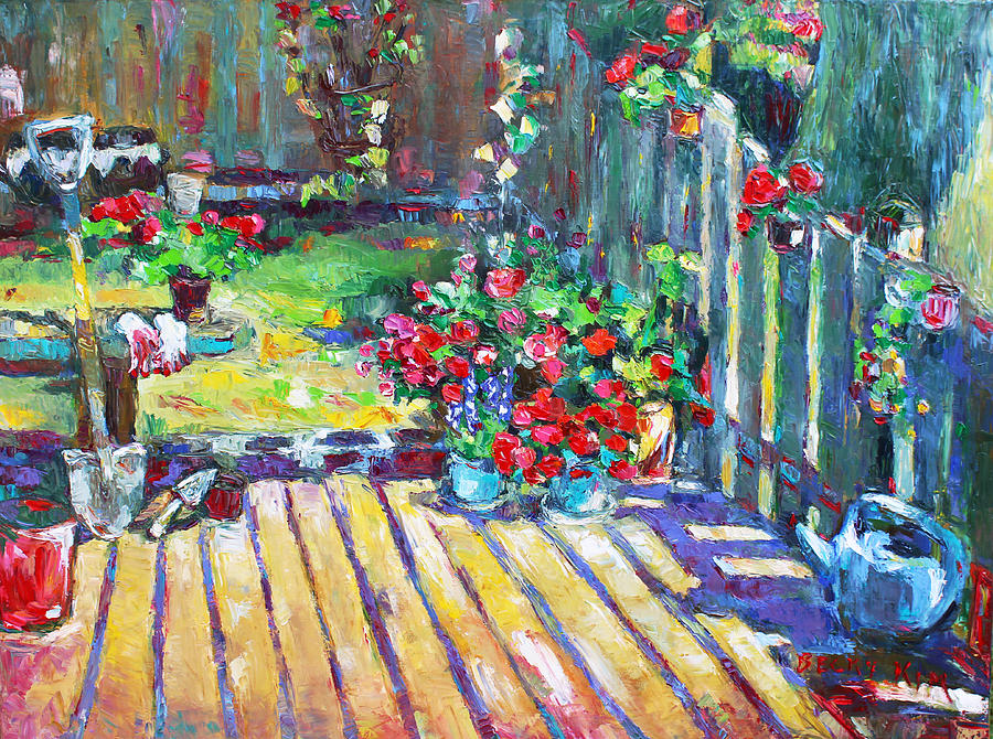Landscape Painting - Home Where True Beauty Is Planted by Becky Kim