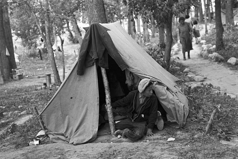 1937 Photograph - Homeless Boy, 1937 by Granger