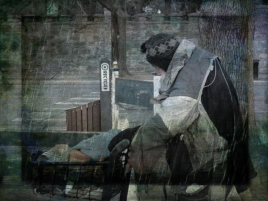 Homeless Photograph - Homeless Man by Geoffrey Coelho