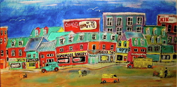 Montreal Painting - Homemade Bakery by Michael Litvack