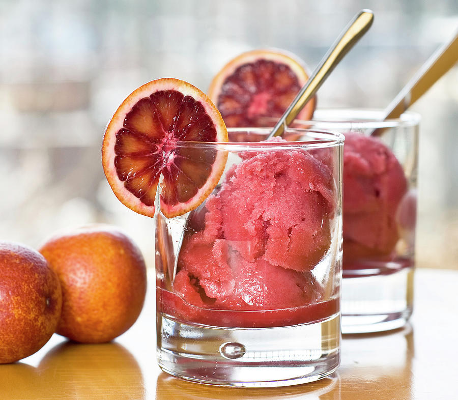 Homemade Blood Orange Sorbet Photograph by Madlyinlovewithlife