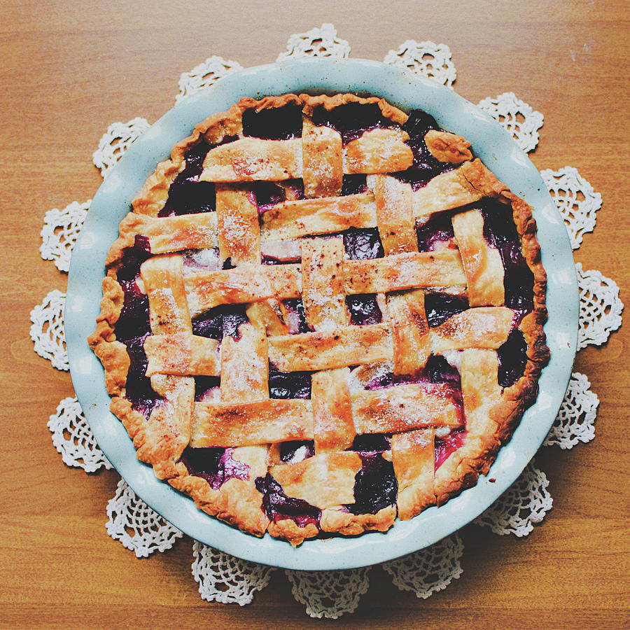 Homemade Blueberry Pie Photograph by Lisa Gutierrez