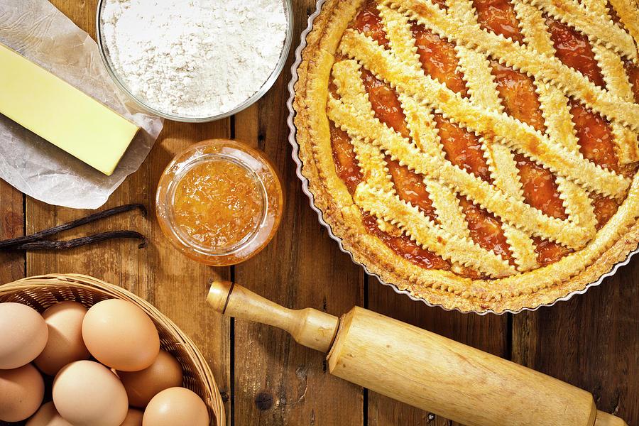 Homemade Italian Crostata With Photograph by Fcafotodigital