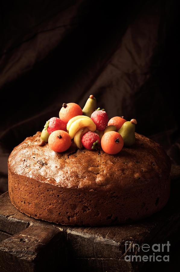 Marzipan Photograph - Homemade Rich Fruit Cake by Amanda Elwell