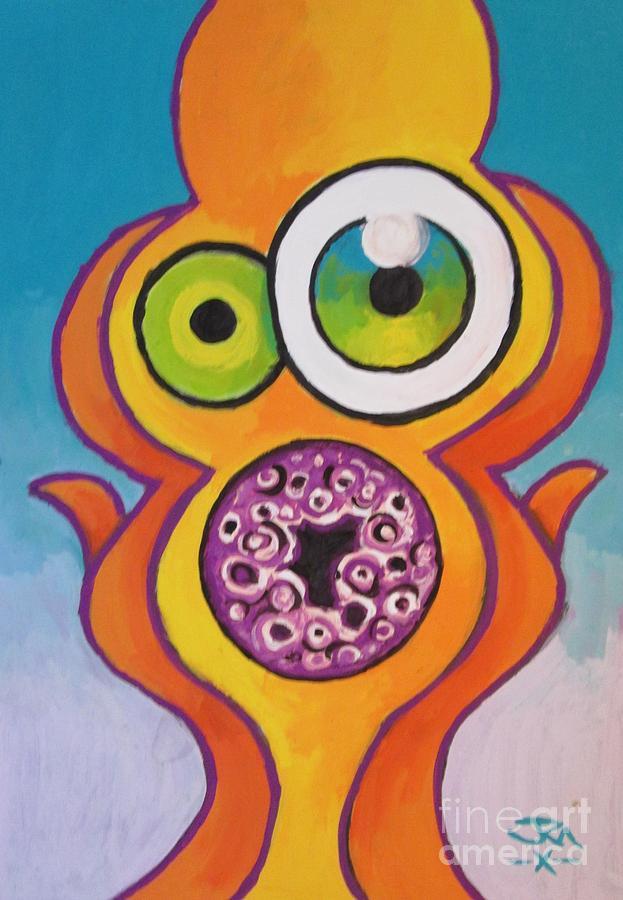 Homers Scream Painting by Jedidiah Morley