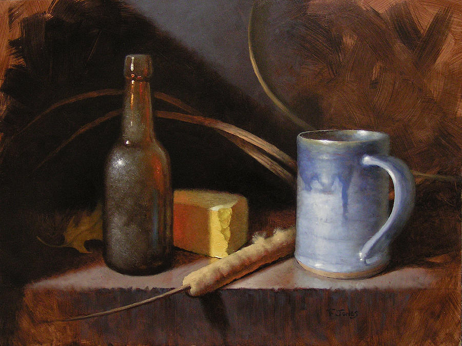 Beer Painting - Homestead Beer And Cheese by Timothy Jones