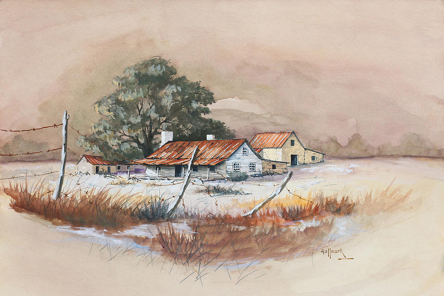 Bob Hallmark Painting - Homestead by Bob Hallmark