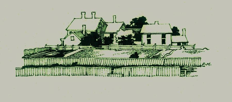 Homestead Drawing - Homestead by Dale Michels