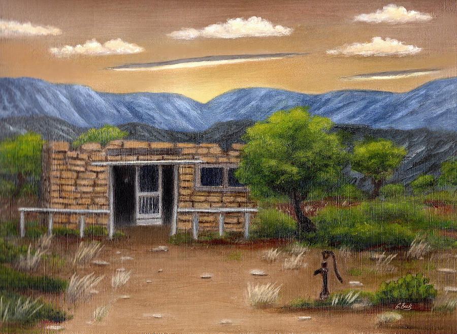 Old Painting - Homestead by Gordon Beck