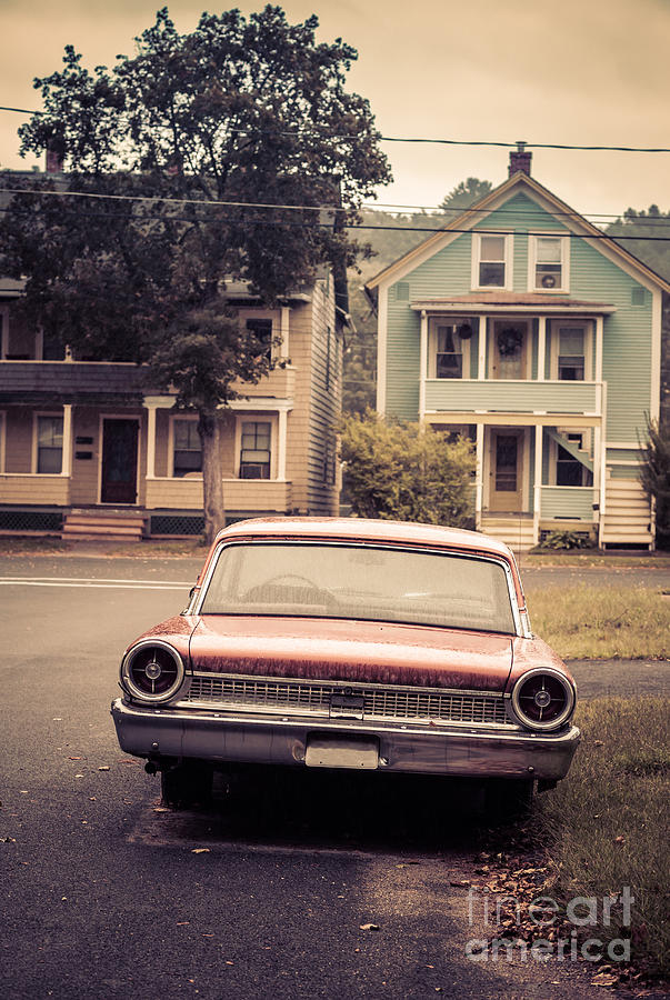 Vintage Car Photograph - Hometown Usa by Edward Fielding