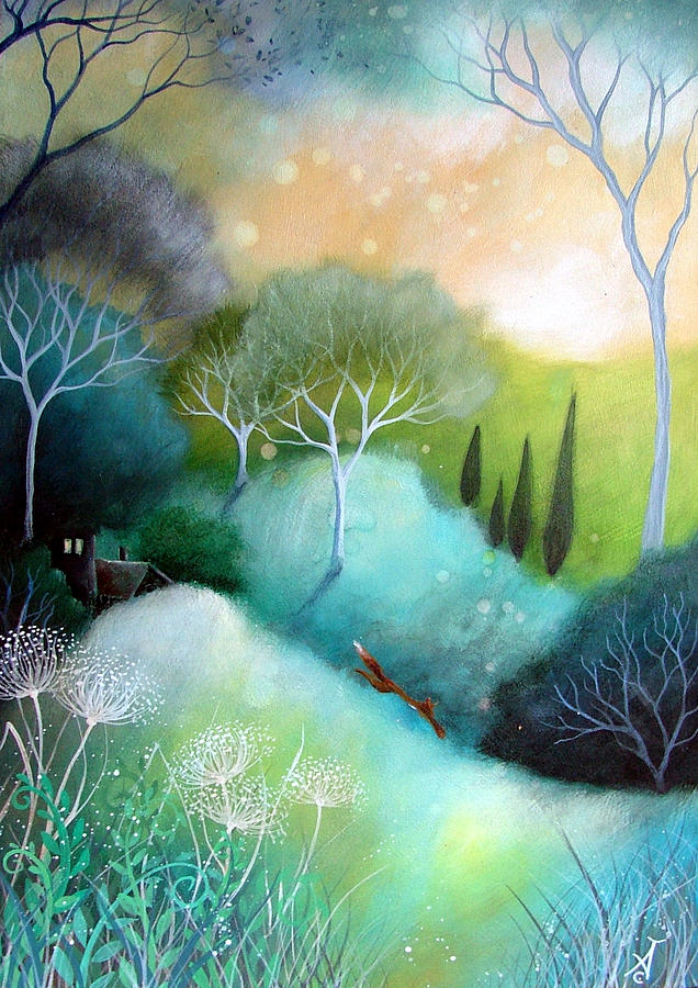 Landscape Painting - Homeward by Amanda Clark
