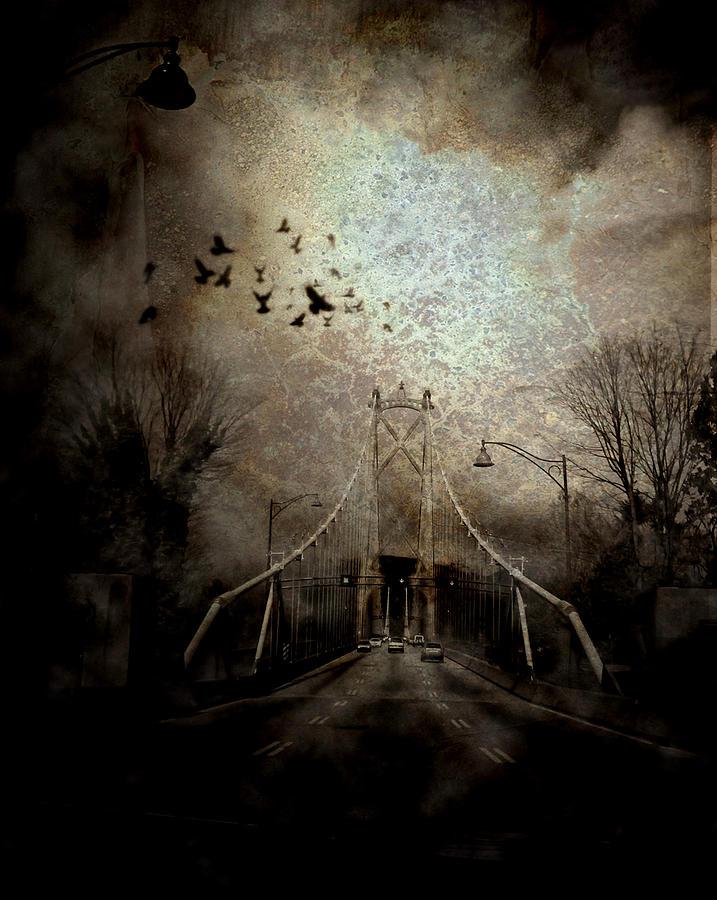 Bridge Mixed Media - Homeward Bound by Janet Kearns
