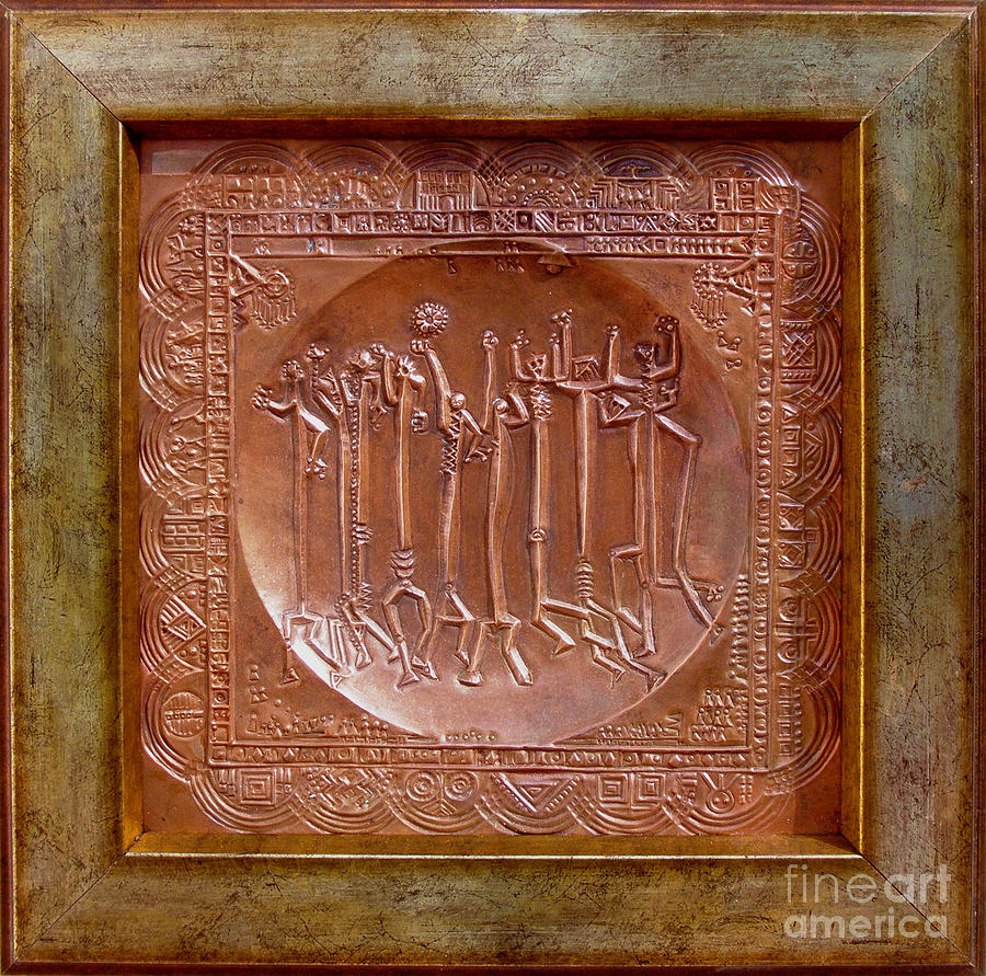 Repousse Relief - Homo Ludens by Gyula Friewald